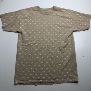 Adidas Mens Large All Over Logo Print T-shirt